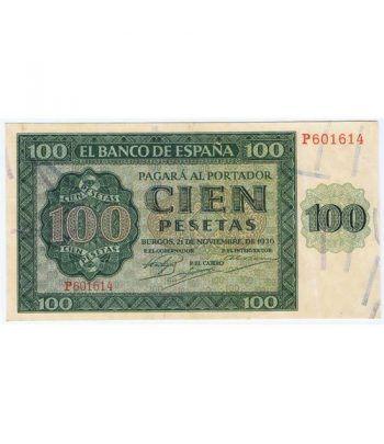 (1936/11/21) Burgos. 100 Pesetas. EBC.  - 1