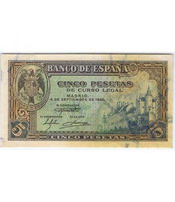 (1940/09/04) Madrid. 5 Pesetas. SC-.  - 1