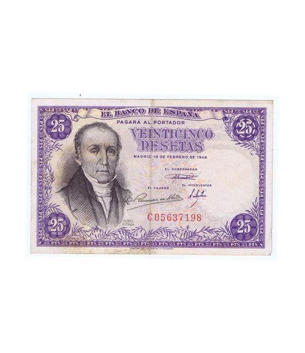 (1946/02/19) Madrid. 25 Pesetas. MBC.  - 1