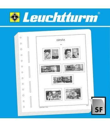 LEUCHTTURM España 2015-2018 (montado con estuches) Hojas sellos Leuchtturm - 2
