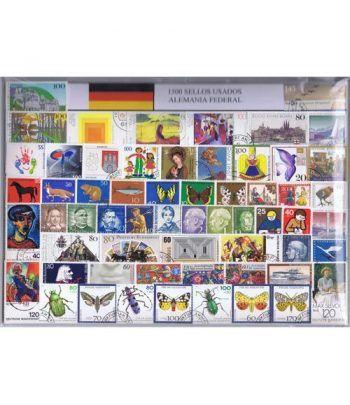 Alemania Federal 1500 sellos usados diferentes  - 2