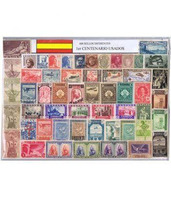 0600 Sellos usados de España Primer Centenario.  - 2