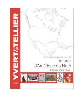 YVERT ET TELLIER América del Norte (Canadá a Terra Nova) 2018. Catalogos Filatelia - 2