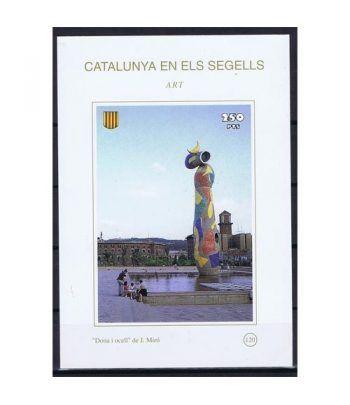 Catalunya en els segells nº120 Dona i Ocell de J. Miró  - 2