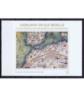 Catalunya en els segells nº122 Atles català S. XIV  - 2
