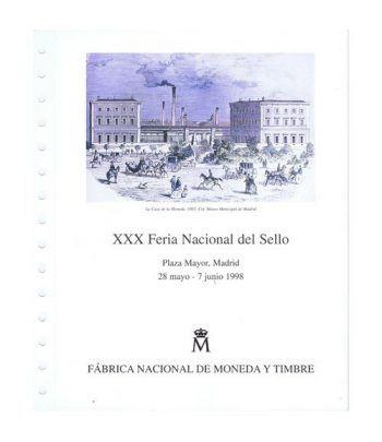 1998 Documento 48 XXX Feria Nacional del Sello  - 1