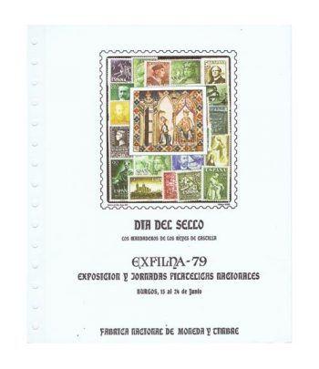 1979 Documento 8 Exfilna 79. Burgos. Dia del Sello.  - 1