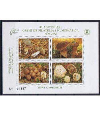 1988 40 Aº Gremi Filatelia Numismática. Hojita recuerdo  - 2