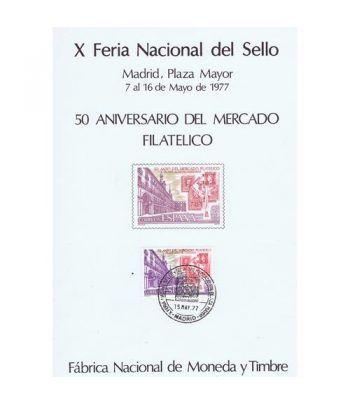 1977 X Feria Nacional del Sello. Madrid. Hojita recuerdo  - 2