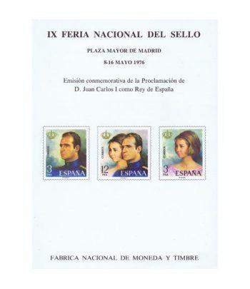 1976 IX Feria Nacional del Sello. Madrid. Hojita recuerdo  - 1