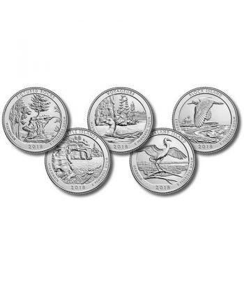 E.E.U.U. 1/4$ 2018 Parques Nacionales (5 monedas) ceca P.  - 2