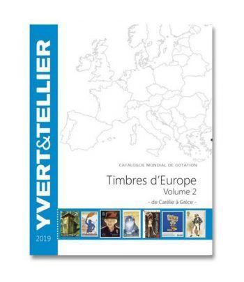 YVERT ET TELLIER Europa volumen 2 Carelia a Grecia 2019. Catalogos Filatelia - 2