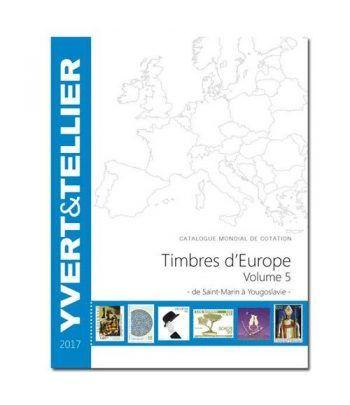 YVERT ET TELLIER Europa volumen 5 San Marino-Yugoslavia 2017 Catalogos Filatelia - 2