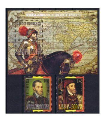 Emisión conjunta 2000 España-Belgica Carlos V.  - 2