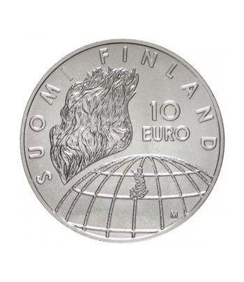 moneda Finlandia 10 Euros 2002 (JJOO Helsinki).  - 1