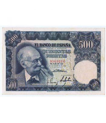 (1951/11/15) Madrid. 500 Pesetas. EBC. Sin Serie 9369216  - 1