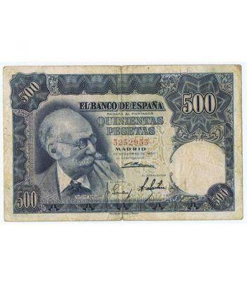 (1951/11/15) Madrid. 500 Pesetas. MBC-. Sin Serie 5252955  - 1