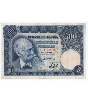 (1951/11/15) Madrid. 500 Pesetas. MBC. Serie A190913  - 1