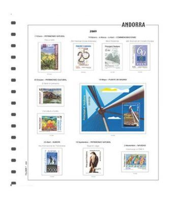 FILOBER Color Andorra Esp. 2018 sin montar. Hojas FILOBER Color - 2