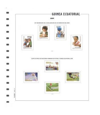 FILOBER Color Guinea 2018 montado con estuches Hojas FILOBER Color - 2
