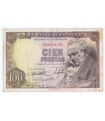 (1946/02/19) Madrid. 100 Pesetas. MBC-. Serie B06548362  - 1