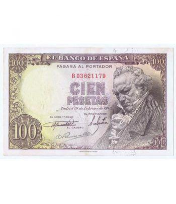 (1946/02/19) Madrid. 100 Pesetas. MBC. Serie B03621179  - 1
