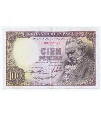 (1946/02/19) Madrid. 100 Pesetas. MBC. Serie B00658876  - 1