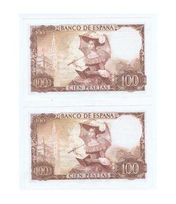 (1965/11/19) Madrid. 100 Pesetas. SC. Pareja.  - 4