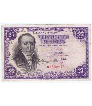 (1946/02/19) Madrid. 25 Pesetas. MBC+ Sin Serie 01692943  - 1