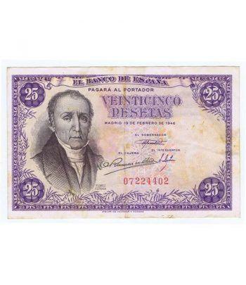 (1946/02/19) Madrid. 25 Pesetas. MBC Sin Serie 07224402  - 1