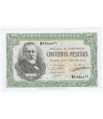 (1940/01/09) Madrid. 50 Pesetas. EBC+. Serie D5349471  - 1