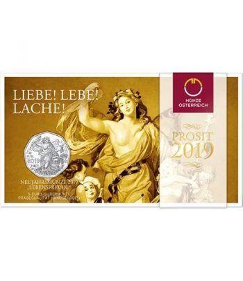 moneda Austria 5 Euros 2019 150 años Ópera de Viena. Plata.  - 1