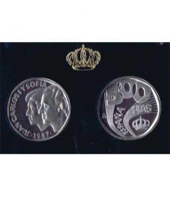 (1988) 500 ptas. XXV Aniversario SSMM. Así nace una moneda.  - 1