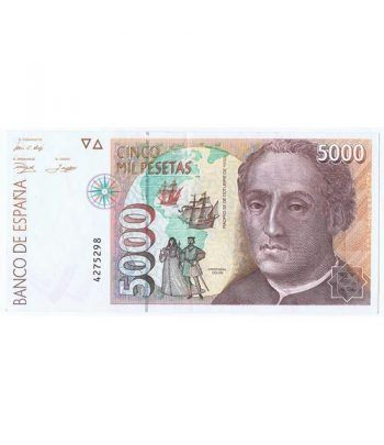 (1992/10/12) Madrid. 5000 Pesetas. EBC. Sin Serie 4275298  - 2