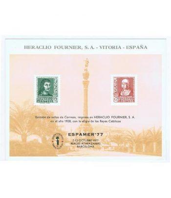 1977 ESPAMER 77. Hojita Recuerdo Heraclio Fournier.  - 2