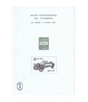 1977 Salón Internacional del Automovil. Hojita recuerdo  - 2