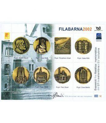 2002 FILABARNA. Hojita recuerdo GAUDI 5/6.  - 2