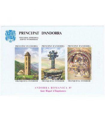1987 Andorra Románica Sant Miquel d'Engolasters. Hojita recuerdo  - 2