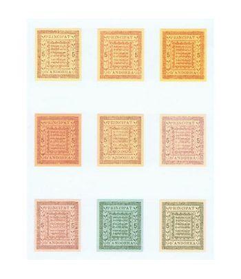 1981 Reedició proves segells per al Principat d'Andorra.  - 1