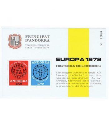 1979 Europa. Hojita recuerdo Andorra.  - 2