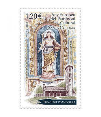 828 Año europeo Patrimonio Cultural. Santa Coloma  - 2