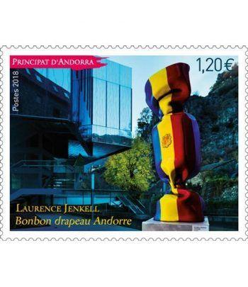 """829 Laurence Jenkell.  """"Bonbon drapeau Andorre""""  - 2"""