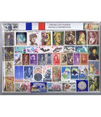 Francia 1500 sellos usados diferentes  - 2