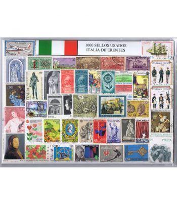 Italia 1000 sellos usados diferentes  - 2
