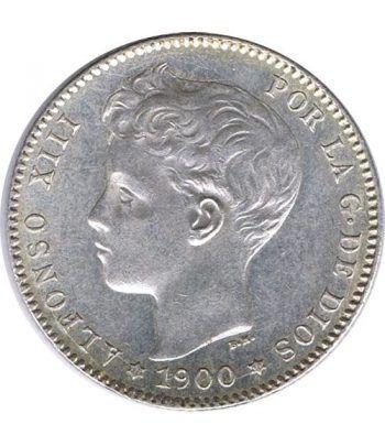 1 Peseta Plata 1900 *00 Alfonso XIII SM V. SC.  - 1