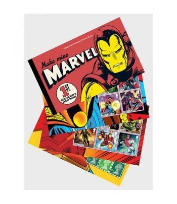 Comics Gran Bretaña 2019 Marvel. Prestige Stamp Book.  - 1