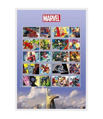 Comics Gran Bretaña 2019 Marvel. Hoja Sellos Adhesivos.  - 2
