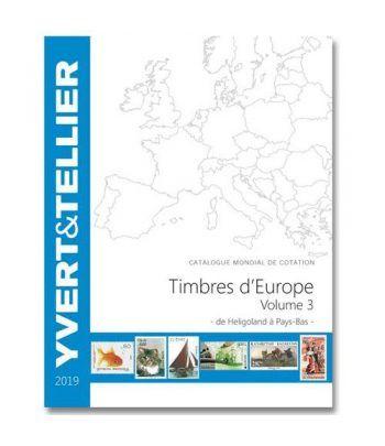 YVERT ET TELLIER Europa volumen 3 (Heligoland-Paises Bajos) 2019 Catalogos Filatelia - 2