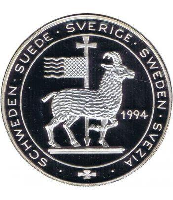 Moneda de plata 20 Ecu Suecia 1994 Hansa. Barco.  - 1