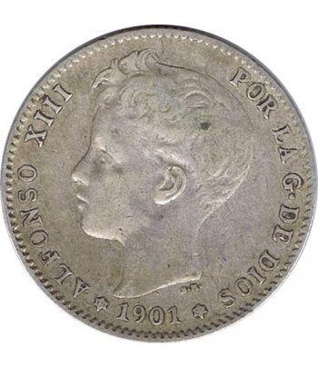 1 Peseta Plata 1901 *01 Alfonso XIII SM V.  - 1